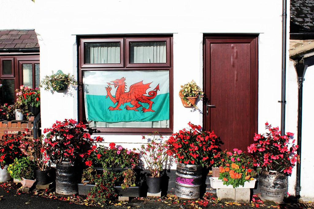 Patriotic House at Llanarmon, Wales