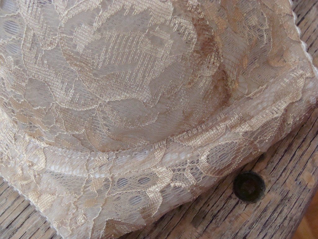 Boylston Bra Gold Lace side cup closeup