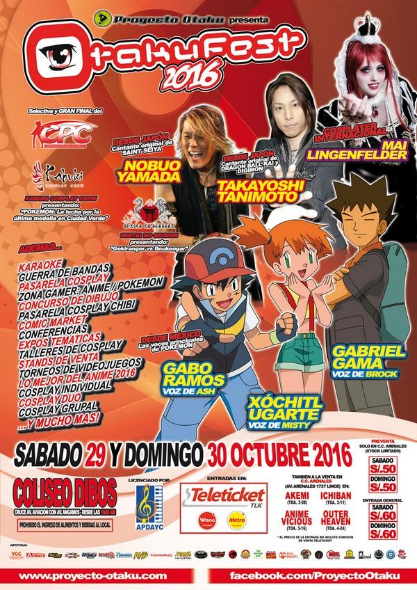 Voces de Pokémon llegarán a Lima para el Otakufest Perú 2016