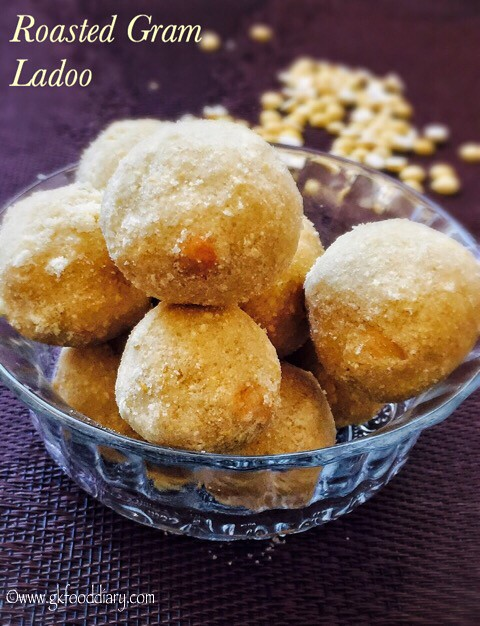 Roasted Gram Dal Ladoo Recipe for Toddlers and Kids