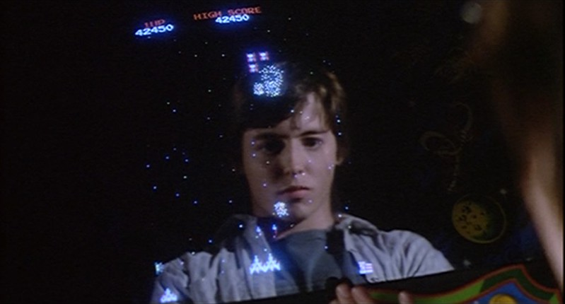 WarGames: David plays a Galaga arcade machine