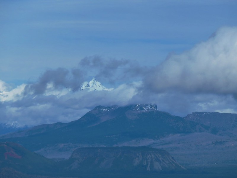 Mt. Jefferson and the lower portion of Three Fingered Jack beyond Hayrick Butte