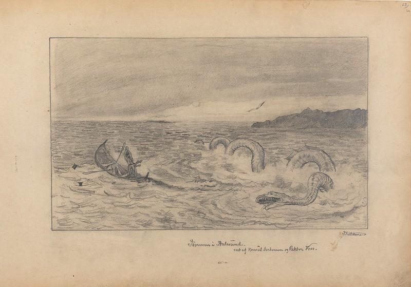 Theodor Kittelsen - Söormen in Aalesund, 1870