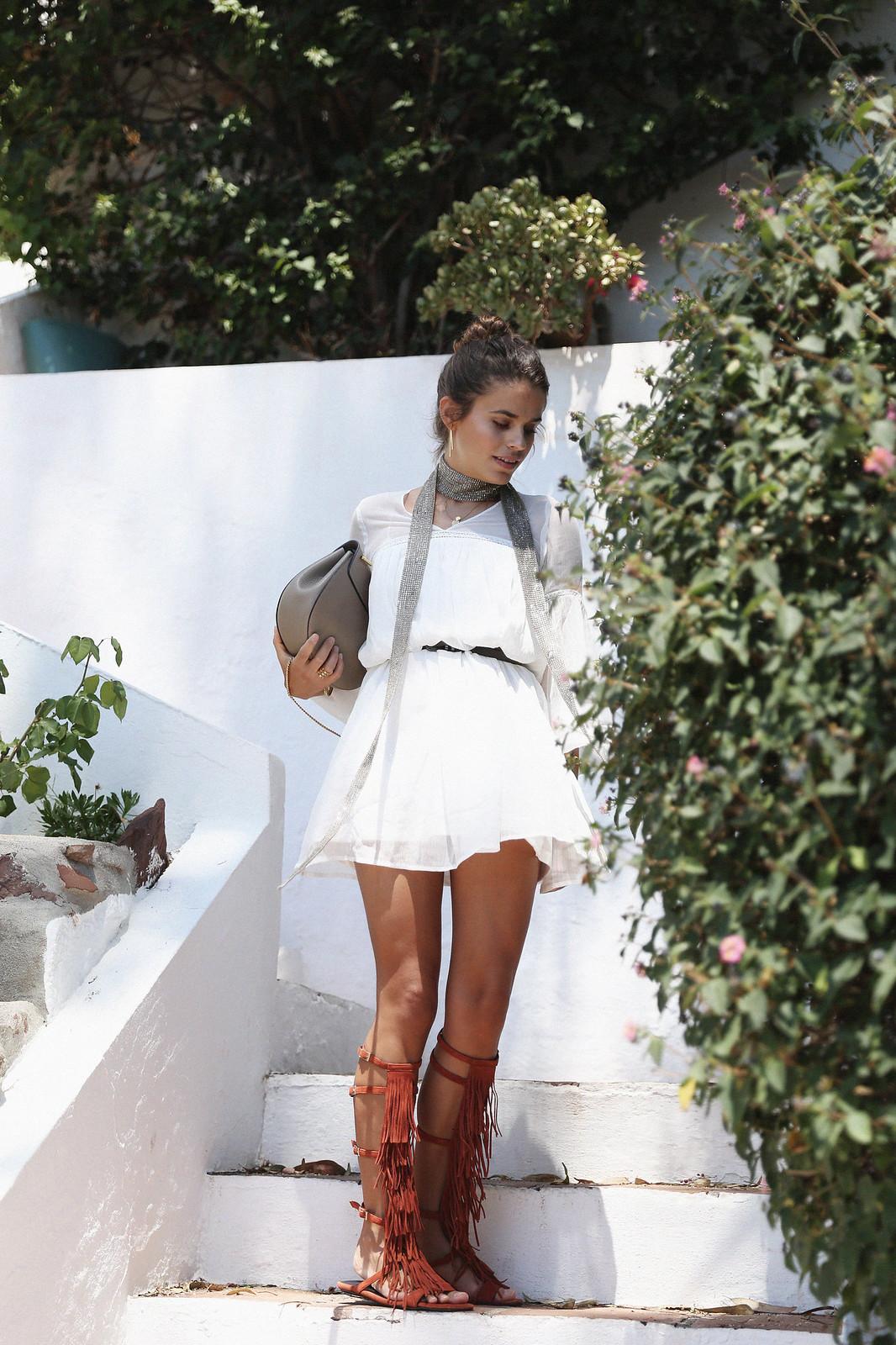 Jessie Chanes Seams for a desire Short White Dress-3