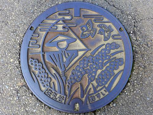 Saredani Nakayama Ehime, manhole cover (愛媛県中山町佐礼谷のマンホール)