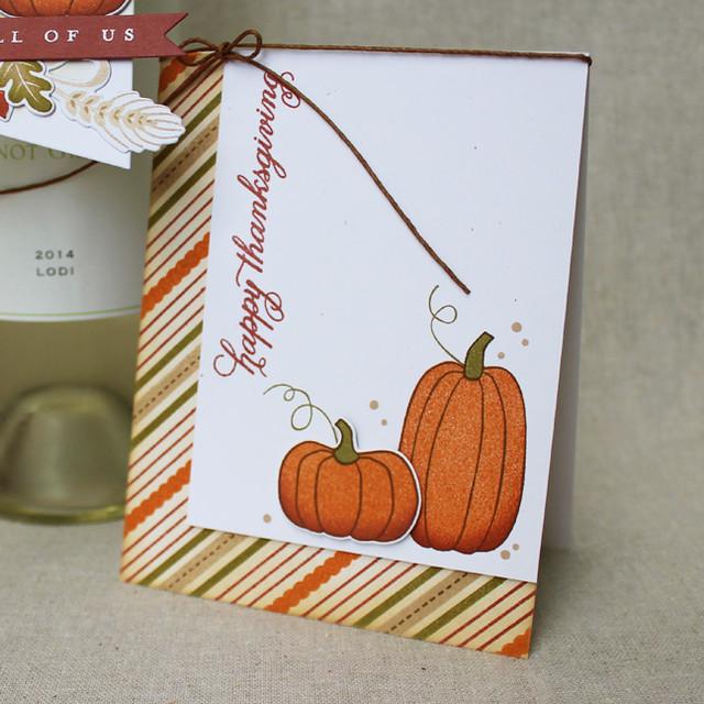 Happy Thanksgiving Pumpkins Card