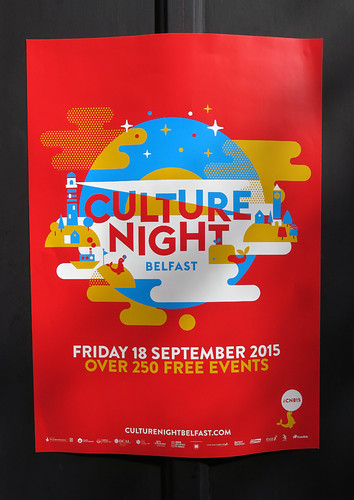 The Culture Night Poster in Belfast, Ireland