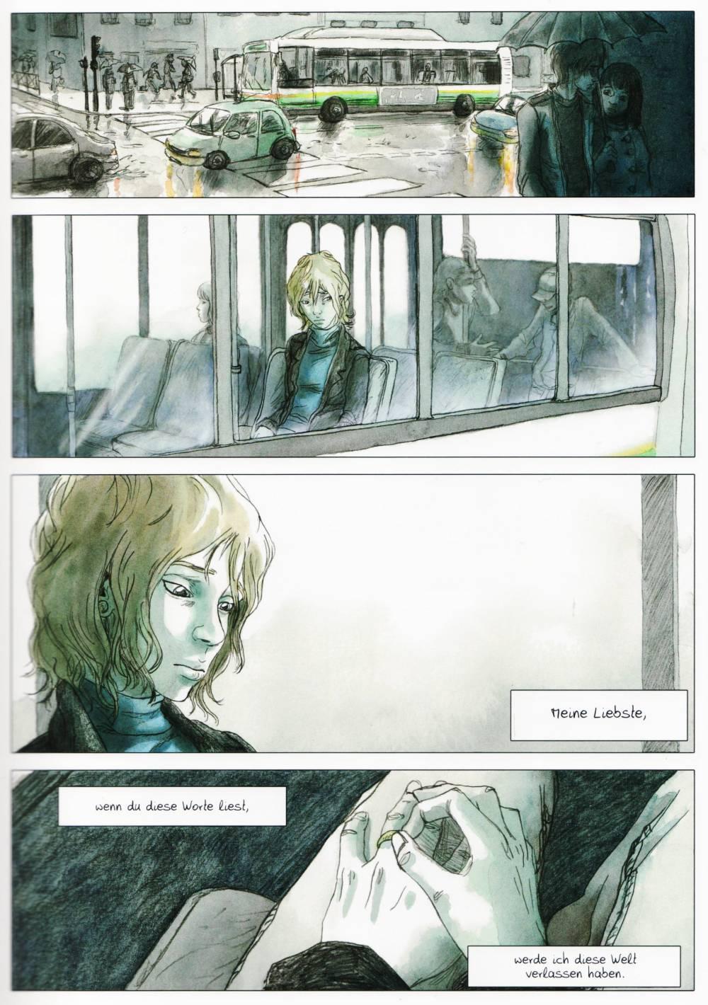 Die erste Seite. Emma liest den Abschiedsbrief von Clementine.
