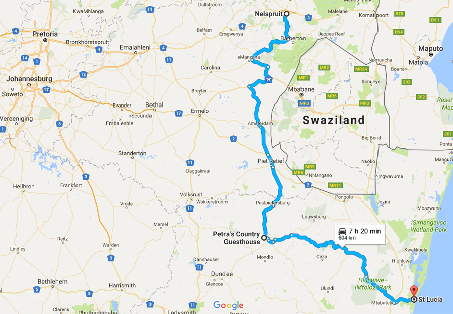 sydafrikakarta