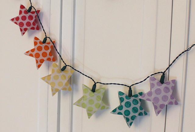 Rainbow Star Paper Lanterns