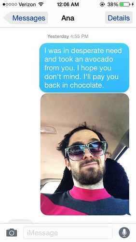 Avocado Apologies (July 19 2015)
