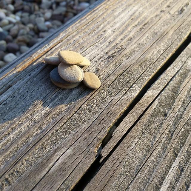 Rocks at the playground