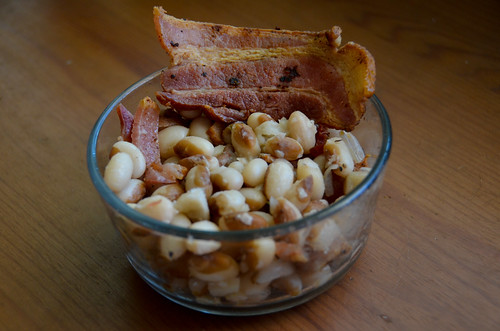 Yellow Eyed Peas - with thick cut bacon