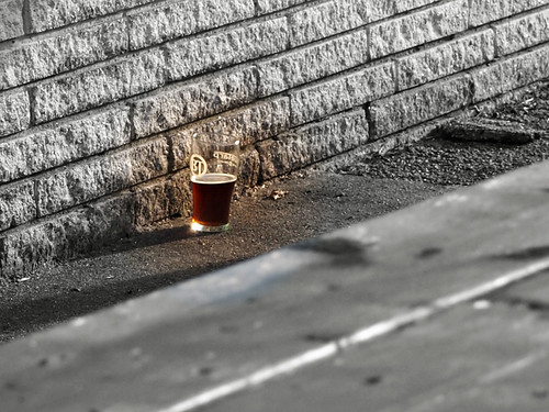 Beer on ground