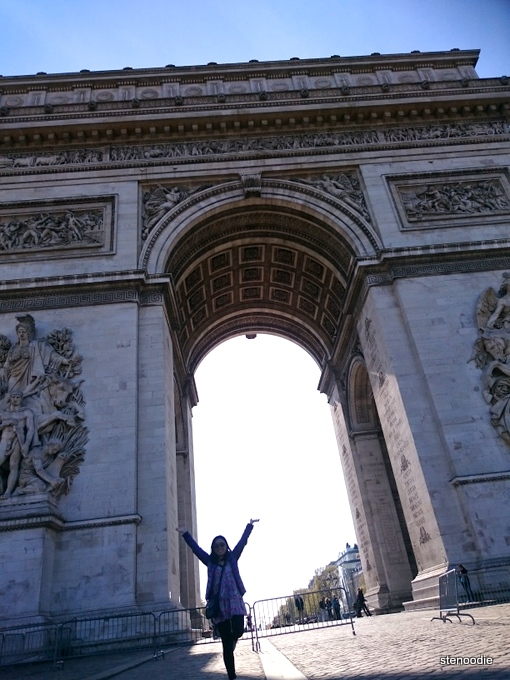 backlit Arc de Triomphe