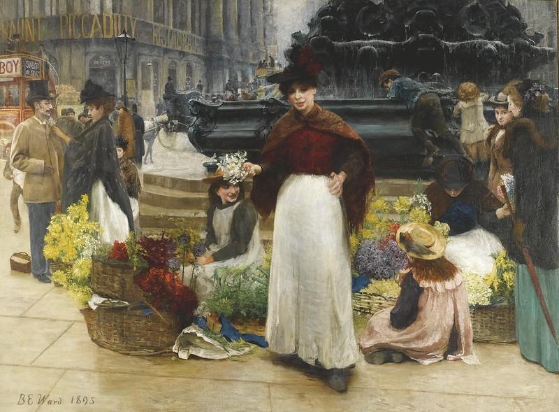 Edward Matthew Ward - London Flower girls (1895)