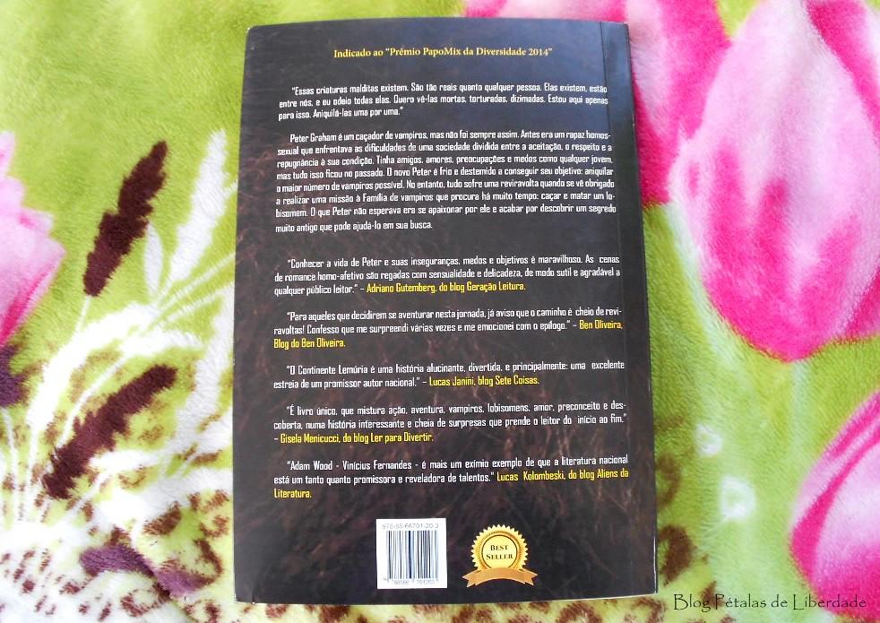 Resenha, livro, Graham-O-Continente-Lemúria, A-Wood, editora-selo-jovem, literatura-nacional, vampiros, lobisomens, protagonista-gay, opiniao, fotos, capa, critica
