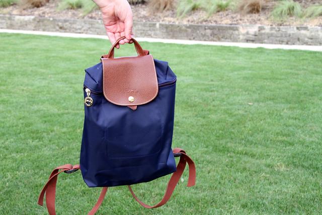 Navy-Longchamp-folding-backpack