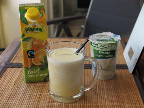 Orangenbuttermilch
