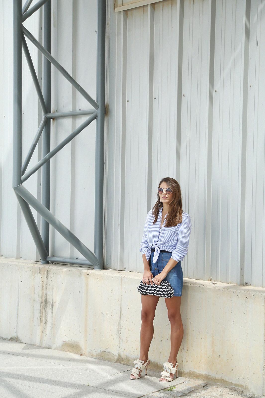 jessie chanes seams for a desire denim skirt stripes shirt-7