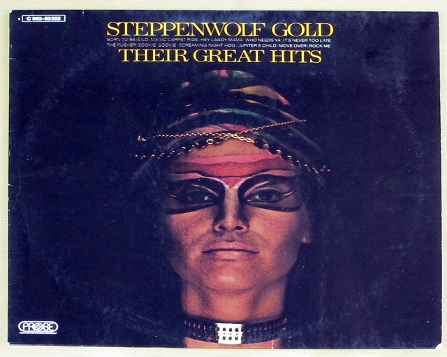 "STEPPENWOLF GOLD THEIR GREAT HITS pink probe 12"" LP VINYL"