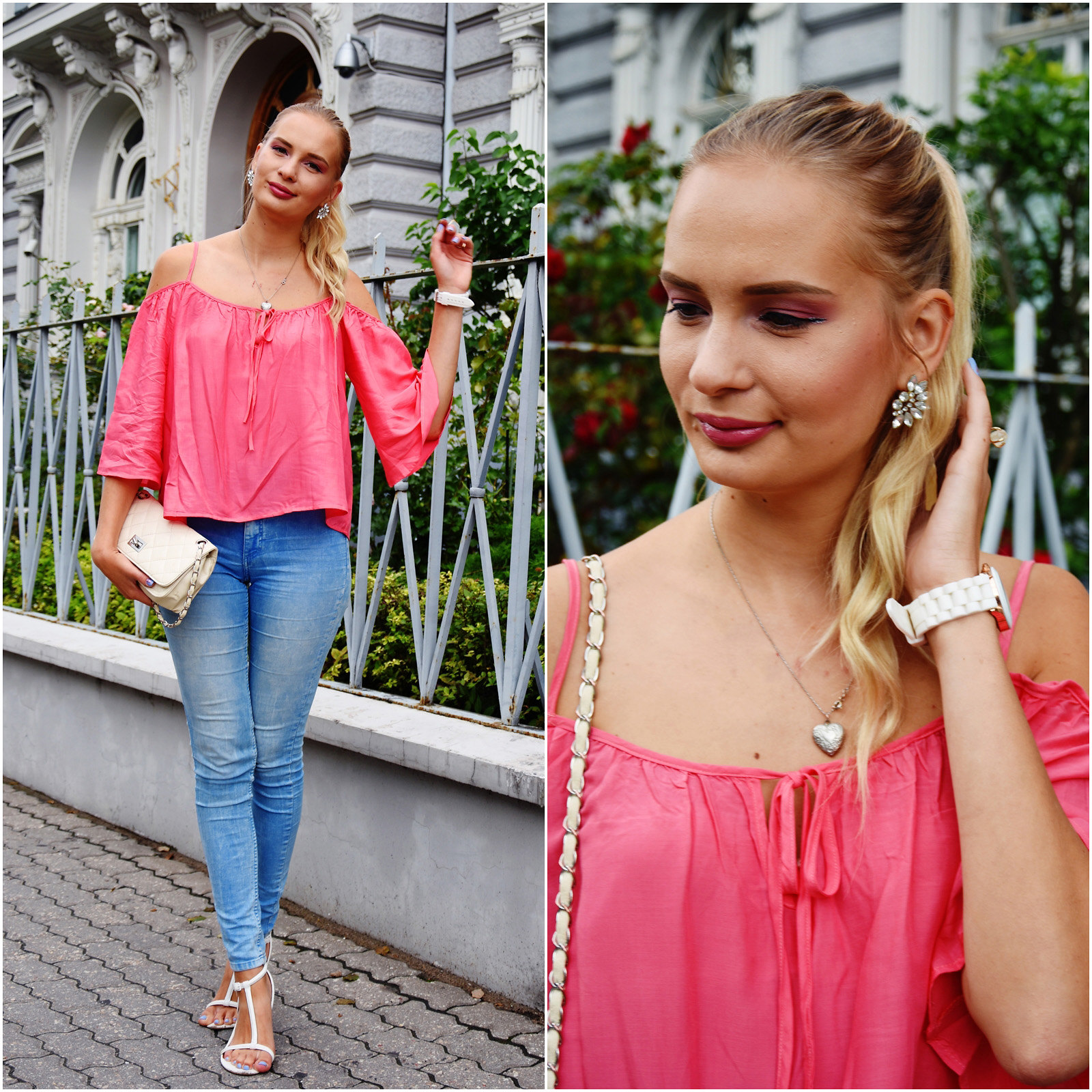 Hot pink top from Zaful