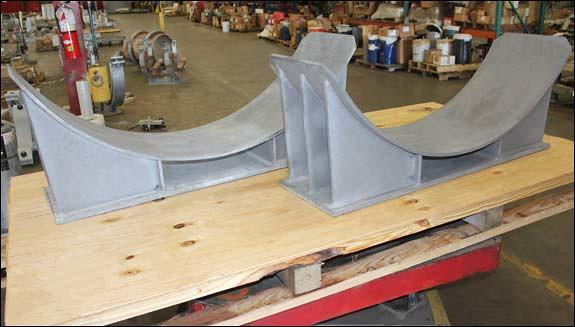 Heavy Duty Pipe Saddles Designed for an Ethane Cracker