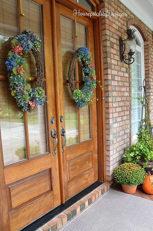 Fall Wreaths - Fall Front Porch - Housepitality Designs