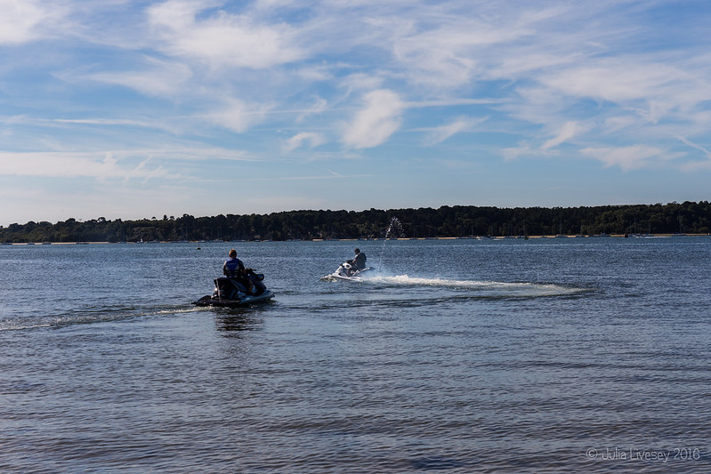 The jet skis are off
