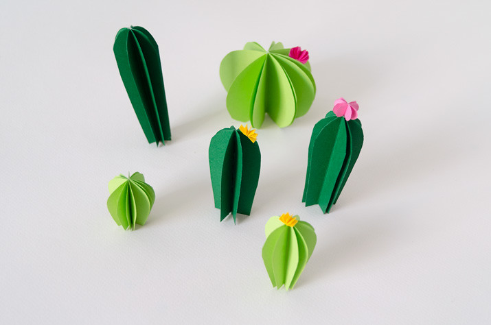 DIY Cactus de papel · DIY Paper cactus · Fábrica de Imaginación · Tutorial in Spanish