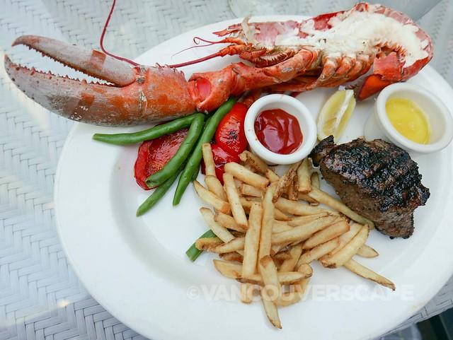 Half Lobster and 8 oz. Steak at The Keg
