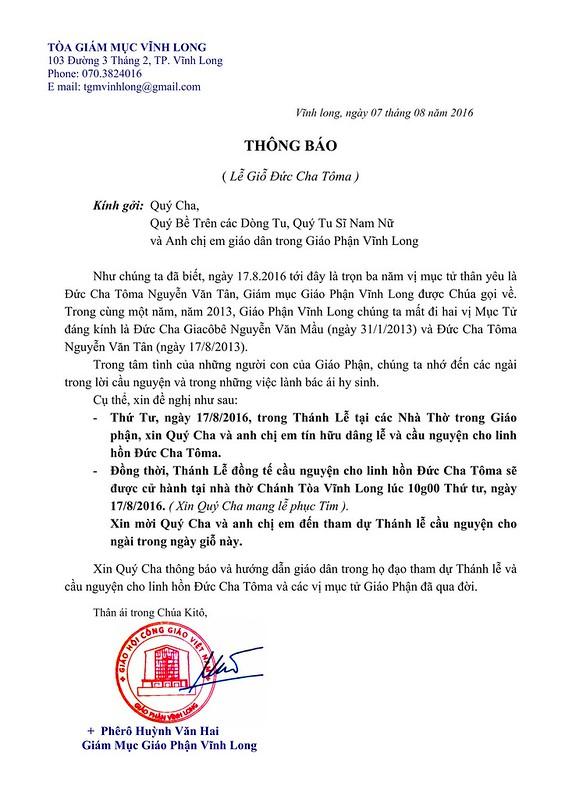 THÔNG BÁO Lễ Giỗ ÐC Tôma_001