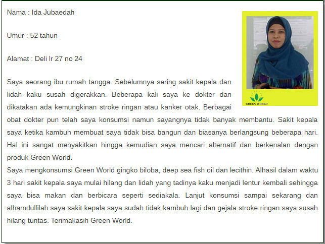 Harga Asli Ginkgo Biloba Plus Capsule Green World