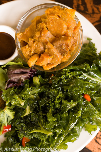 Candied Yams, Sweet Maple Kale Salad