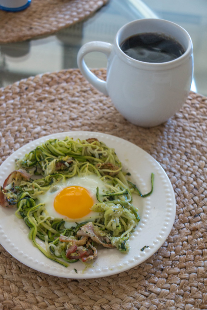 07.24. Bacon and Zucchini Eggs in a Nest