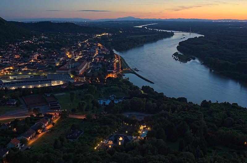 Summer evening over Hainburg an der Donau