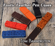 Exotic Leather Pen Cases by Tom Barrington