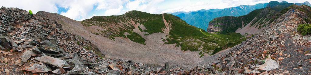 2號圈谷半景圖