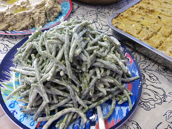 haricots verts sauce tarator