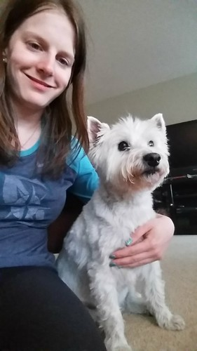 Daisy and I Westie Serious