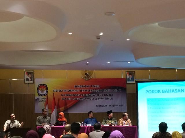CATATAN STAF KPU TULUNGAGUNG DARI ARENA BIMTEK SIPP (1)