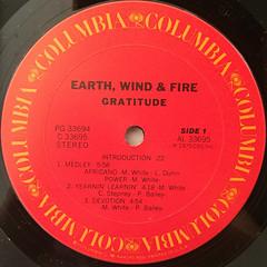 EARTH,WIND & FIRE:GRATITUDE(LABEL SIDE-A)