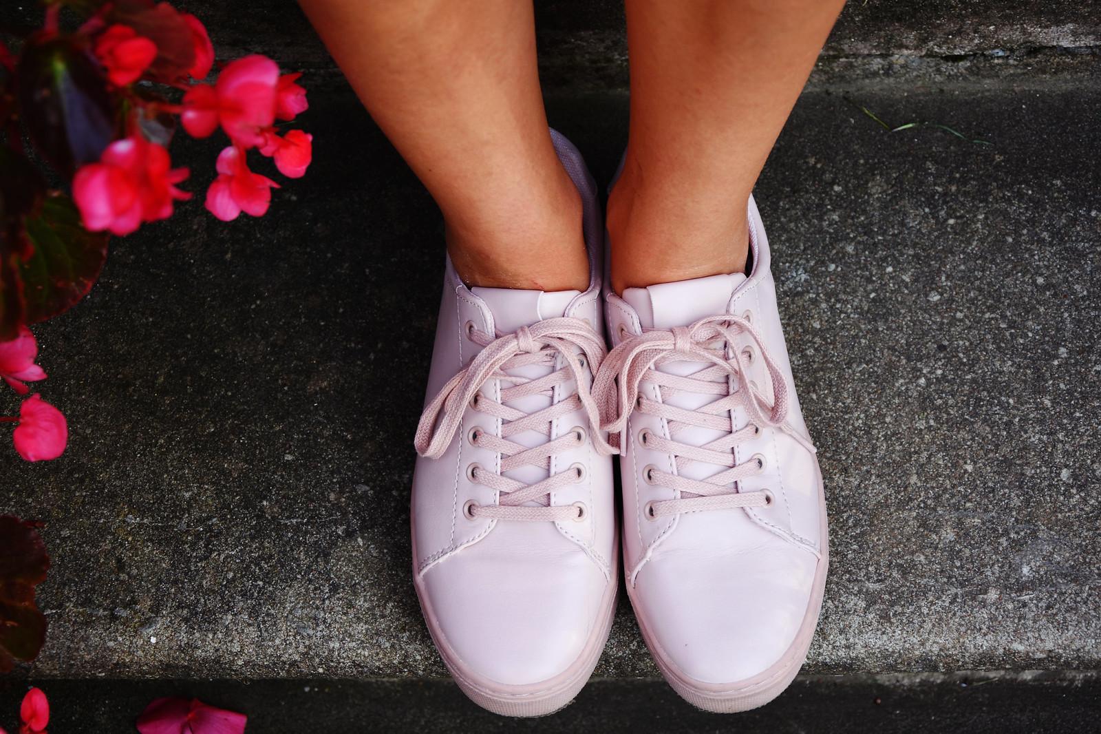 H&M pastel pink sneakers