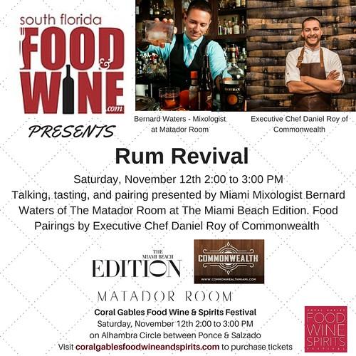 South Florida Food and Wine Rum Seminar