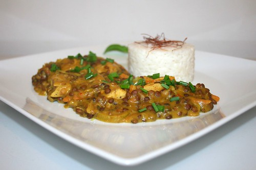 48 - Leek lentil curry with chicken / Lauch-Linsen-Curry mit Huhn - Seitenansicht