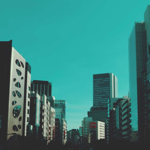 View from Aoyama street footbridge