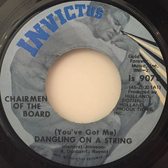 CHAIRMEN OF THE BOARD:(YOU'VE GOT ME)DANCING ON A STRING(LABEL SIDE-A)
