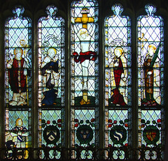 Crucifixion flanked by St Felix, Blessed Virgin, St John and St Margaret (Kempe & Co)