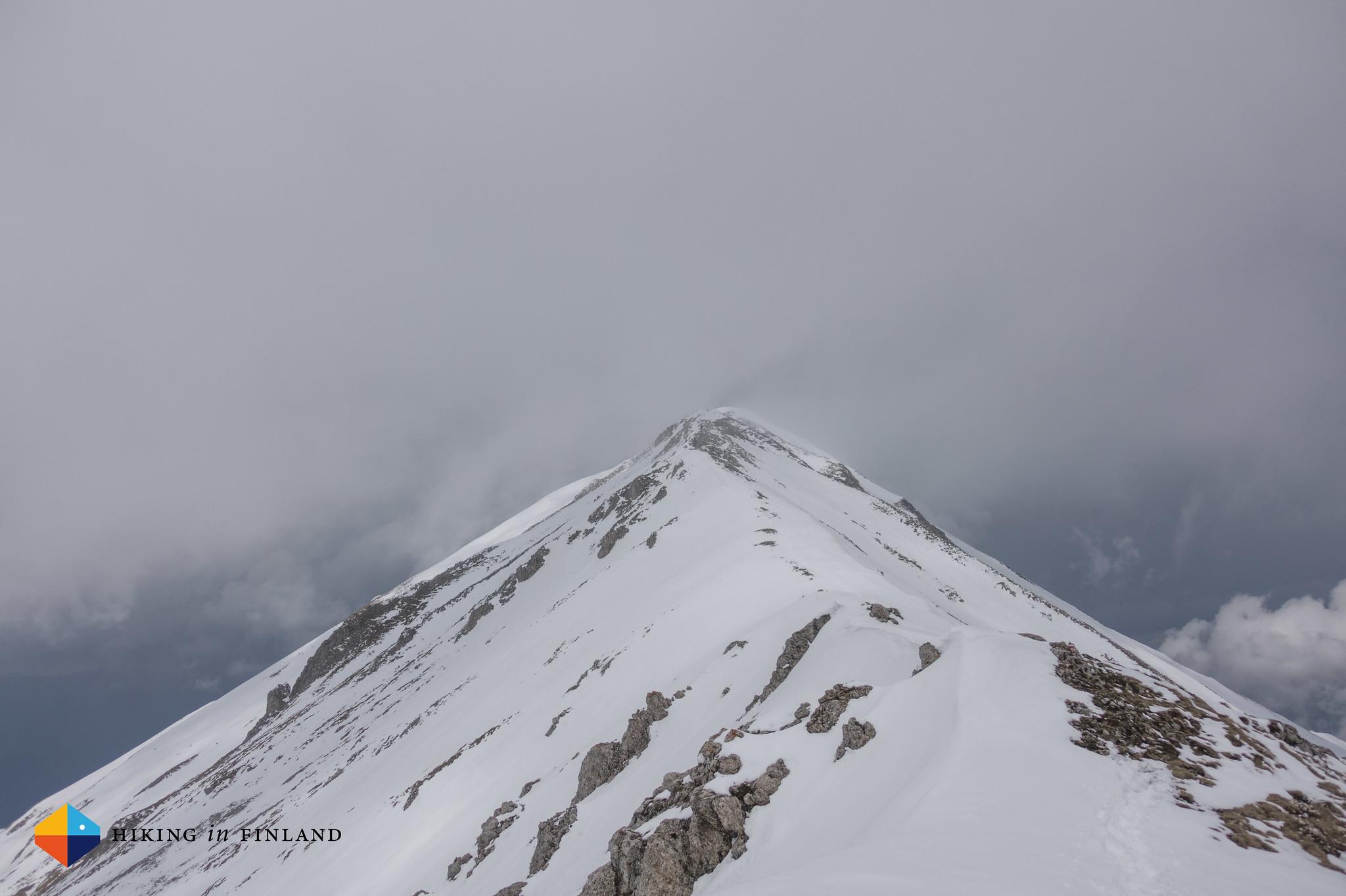 Snowy Ljuboten Summit ridge