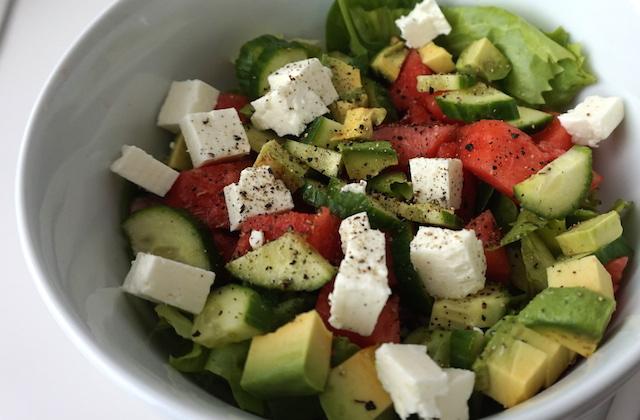 Salat mit Wassermelone